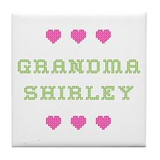 Grandma Shirley Tile Coaster