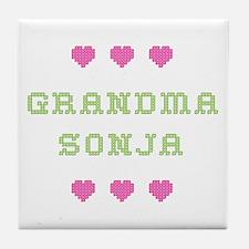 Grandma Sonja Tile Coaster