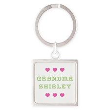Grandma Shirley Square Keychain