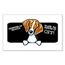 Beagle Paws Off Decal