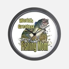 Fishing Mom Wall Clock
