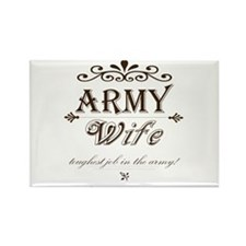 Army Wife: Toughest Job in the Army Rectangle Magn