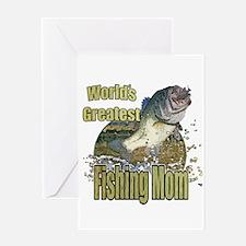 Fishing Mom Greeting Card