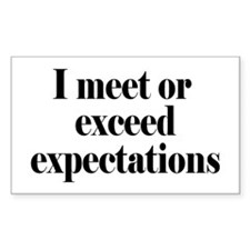 I Meet Or Exceed Expectations Decal