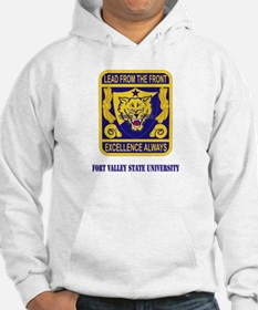 Fort Valley State University with Text Hoodie