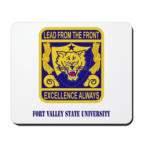Fort Valley State University with Text Mousepad