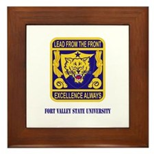 Fort Valley State University with Text Framed Tile