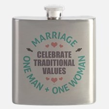 Celebrate Traditional Values Flask