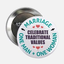 "Celebrate Traditional Values 2.25"" Button (10 pack"
