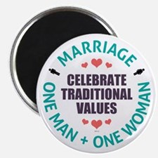 Celebrate Traditional Values Magnet