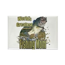 Fishing Mom Rectangle Magnet