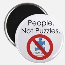 """People, Not Puzzles 2.25"""" Magnet (10 pack)"""