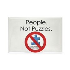 People, Not Puzzles Rectangle Magnet