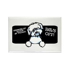 Coton de Tulear Paws Off Rectangle Magnet