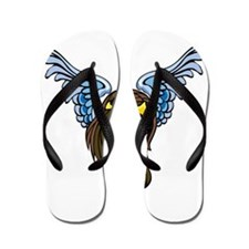Winged Angel Girl Tattoo Flip Flops