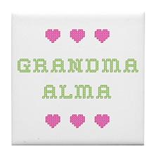 Grandma Alma Tile Coaster