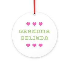 Grandma Belinda Round Ornament