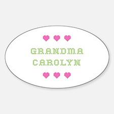 Grandma Carolyn Oval Decal