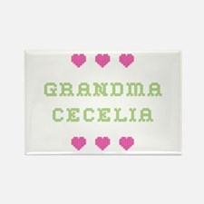 Grandma Cecelia Rectangle Magnet