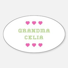 Grandma Celia Oval Bumper Stickers