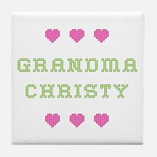 Grandma Christy Tile Coaster