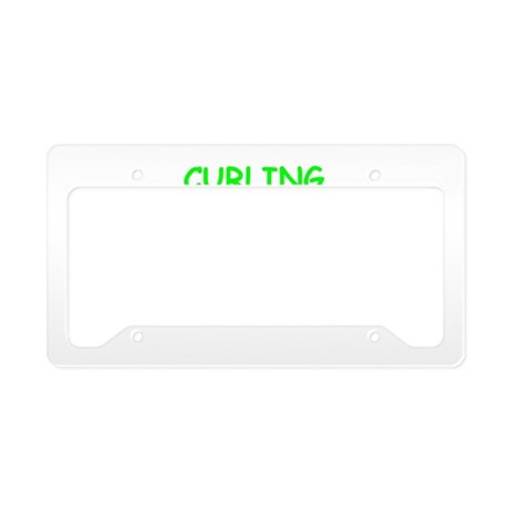 CURLING License Plate Holder