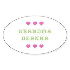 Grandma Deanna Oval Decal