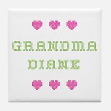 Grandma Diane Tile Coaster