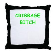 cribbage Throw Pillow