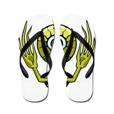 Big Head Alien Creature Flip Flops
