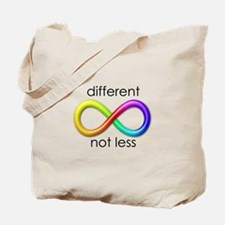 Different. Not Less. Tote Bag