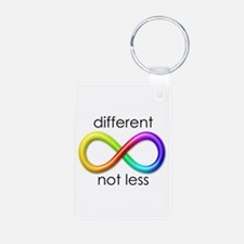 Different. Not Less. Keychains