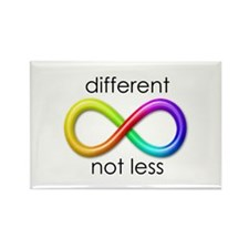 Different. Not Less. Rectangle Magnet