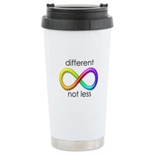 Different. Not Less. Travel Coffee Mug
