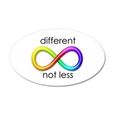 Different. Not Less. Wall Decal