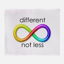 Different. Not Less. Throw Blanket