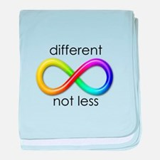 Different. Not Less. baby blanket