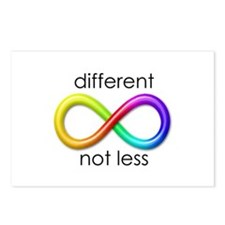 Different. Not Less. Postcards (Package of 8)