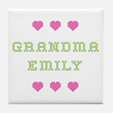 Grandma Emily Tile Coaster