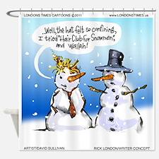 Snowman Toupees Shower Curtain