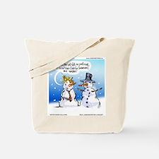 Snowman Toupees Tote Bag