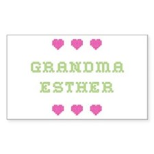Grandma Esther Rectangle Decal