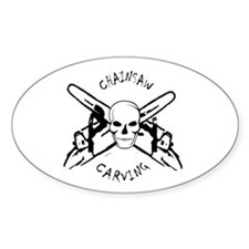 Chainsaws Oval Decal