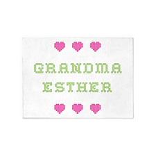 Grandma Esther 5'x7' Area Rug
