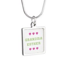 Grandma Esther Silver Square Necklace