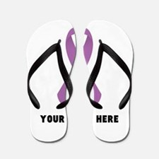 Purple Awareness Ribbon Customized Flip Flops