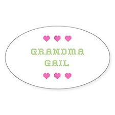 Grandma Gail Oval Decal