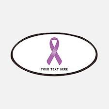 Purple Awareness Ribbon Customized Patch