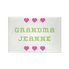 Grandma Jeanne Rectangle Magnet
