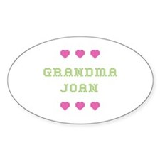 Grandma Joan Oval Decal